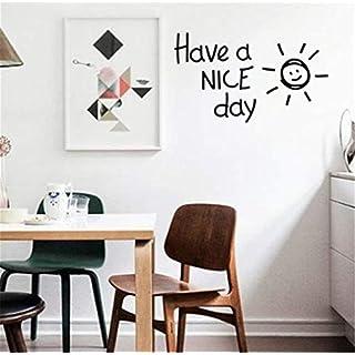 MwaaZ Einzigartiger Wandaufkleber die nordischen Wind Buchstaben passen gemütlich gegen die, Ins Wohnzimmer Schlafzimmer Dorm Store Art Deco-, W55 * H32Cm Foto Hintergrund