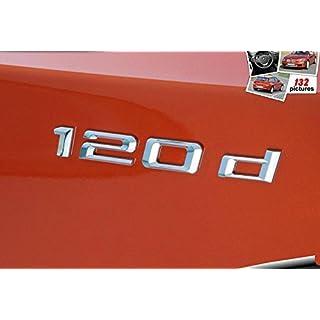 E872 120d Emblem 120 d schriftzug Badge auto aufkleber 3D car Sticker Chrom mobil