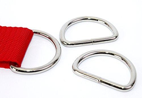 D-Ringe 10 Stück 40x27x5mm Halbrundringe Stahl vernickelt, geschweißt