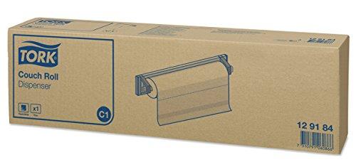 Tork 129184 Dispensador de rollo de camilla / Soporte de papel cubrecamilla compatible con el sistema C1 / Negro y Metal