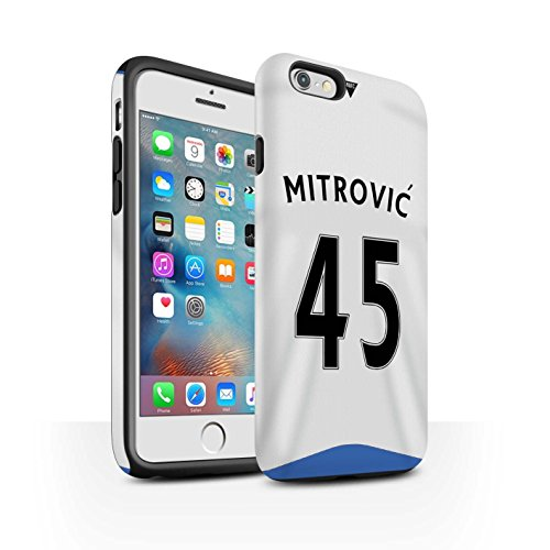 Offiziell Newcastle United FC Hülle / Matte Harten Stoßfest Case für Apple iPhone 6+/Plus 5.5 / Pack 29pcs Muster / NUFC Trikot Home 15/16 Kollektion Mitrovic