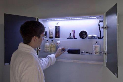 Badezimmerspiegelschrank mit Beleuchtung - 4