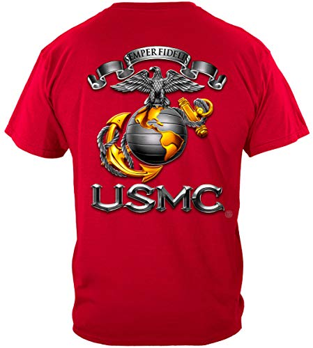 MM2252 Marine Corps T-Shirt, USMC, First in Last Out - Schwarz - XX-Large -