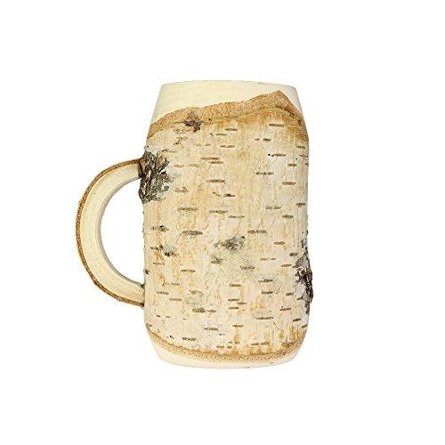 Bierkrug aus Holz – Krug – Standard – Originelle Geschenk-Idee für Männer – Männergeschenk – Geburtstagsgeschenk für Papa, Opa, Freund – Rustikale Deko – 0,5 l