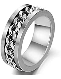 Trendy Lions Stainless steel Chain Rotating Ring