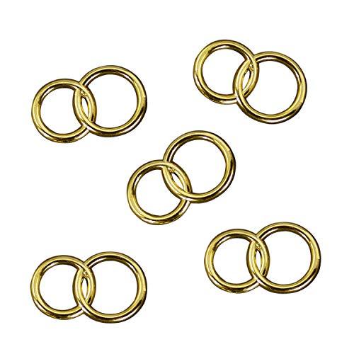 25 x Doppel Ring Gold Deko Streuteile Scrapbooking Tischdeko Streudeko Hochzeit