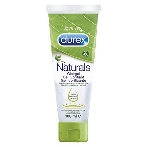 Durex Naturals Gleitgel, 100% natürliche Inhaltsstoffe, Intimgel, 1er Pack (1 x 100 ml)