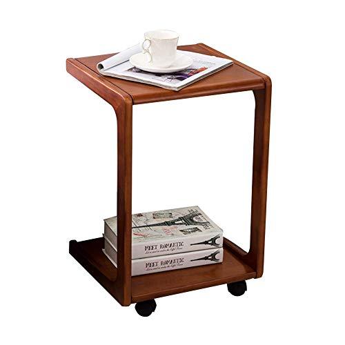AI LI WEI Lebendes Büro/einfacher Ablagetisch Laptopständer für Schreibtisch Sofa Side Couchtisch Regal Bücherregal Mit Riemenscheibe Einfach, 2 Farben (Farbe: BRAUN, Größe: Hoch 580 MM) - Glas Kiefer Bücherregal