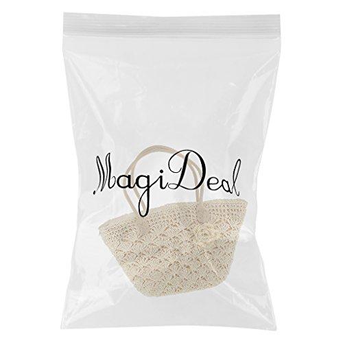 MagiDeal Borsa di Paglia Lavorata A Maglia Uncinetto Sacchetto Tessuto - #3 #3