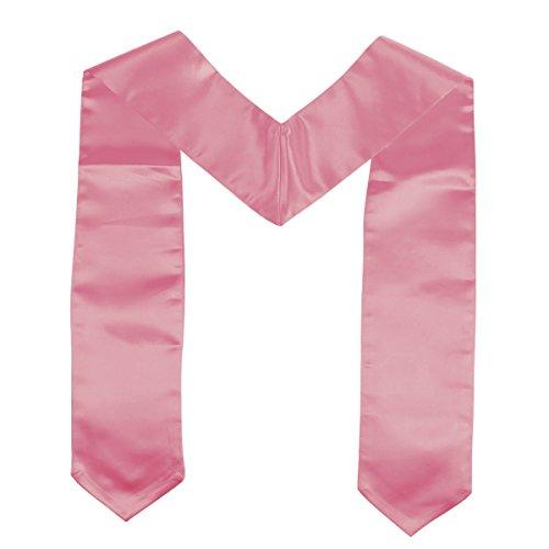 Amosfun Unisex Erwachsene Plain Graduation Stola für Abschluss Kostüm Set Graduation Party Supplies (Pink)