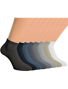 Vitasox Kurzsocken Bambus Sneakersocken uni kurze Socken Quarter Damen und Herren ohne Naht 6er und 12er Pack