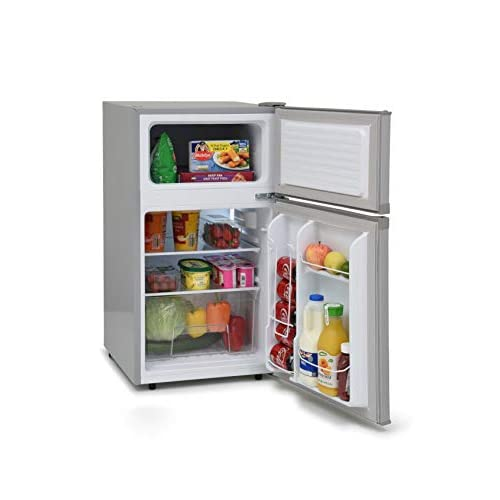 41AYnJyaL3L. SS500  - IceKing IK2024S 48cm Under Counter 2 Door Fridge Freezer 2 Year Warranty (Silver)