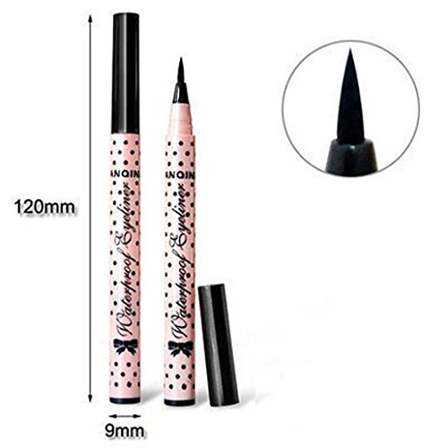 JIANGFU Wasserdichter Eyeliner,Eyeliner Stift Make-up Kosmetik Schwarz Rosa Liquid Eye Liner Bleistift Make-up-Tool