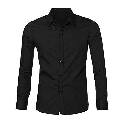 BakeLIN Hemd Herren Klassisch Business Mode Casual Langarm Tops Männer Slim Fit T Shirt Bluse (M~XXL) von BakeLIN auf Outdoor Shop