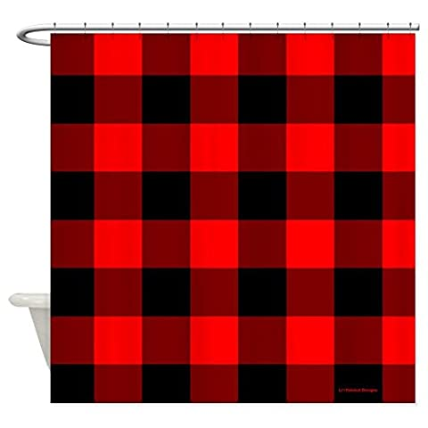 Rot und Schwarz Kariert–Dekostoff Vorhang für die Dusche