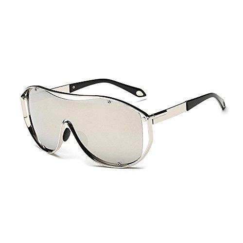 Herren Polarisierte Sonnenbrille One-Piece Lens Style Damen Oversized Sport Sonnenbrille Metallrahmen PC-Objektiv UV-Schutz Sonnenbrille für Männer und Frauen Bunte Big Lens Driving Sonnenbrille UV400