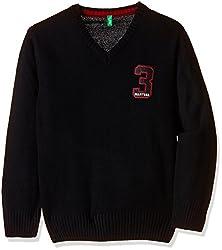 PalmTree Boys Sweater (131080061083 1396_Black_5 - 6 years)