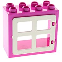 1 x Lego Duplo Dach Bau Stein magenta pink schräg abgerundet 2x3 Set 10542 2302