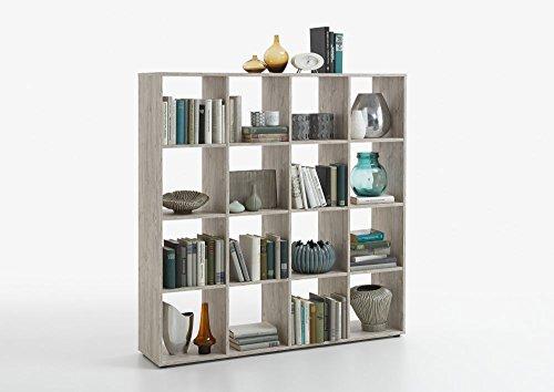 Raumteiler 'Noru I' Sandeiche Nachbildung Bücherregal Regal Dekoregal, Arbeitszimmer, Büro,...