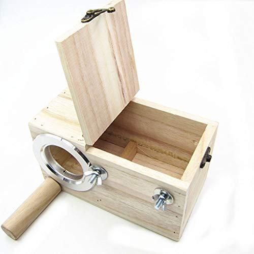 Massivholz Vogelkäfig Papagei Zuchtbox Nest Box Vogelnest mit Anti-Biss Kreis kann eingebaut Werden oder Externe groß