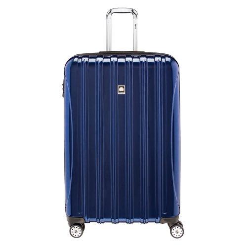 Delsey Luggage Helium Aero, Large Checked Luggage, Hard Case Spinner Suitcase, Cobalt Blue