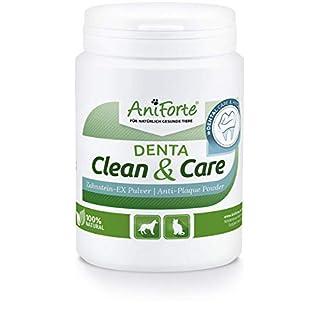 AniForte Denta Clean and Care Zahnstein-EX Pulver 150g für Hunde und Katzen, Zahnpflege für weiße Zähne, Frischer Atem, Zahnbelag und Plaque einfach vorbeugen, Auch für die Welpen Mundhygiene