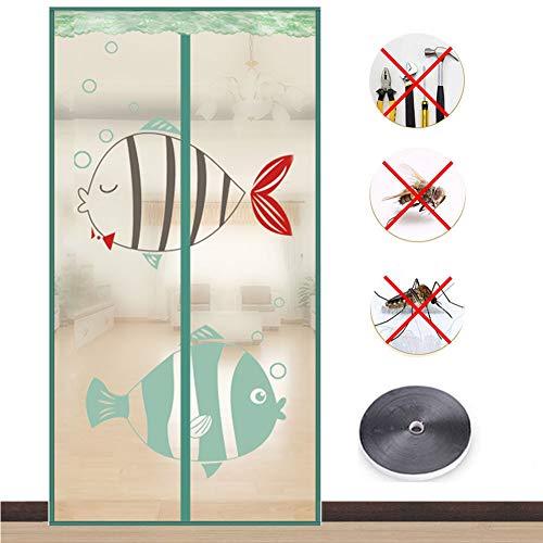 Türvorhang Magnetic Moskito Netz,Fliegengitter Tür Insektenschutz Magnetvorhang Moskitonetz,Kinderleichte Klebemontage Ohne Bohren,B,100 * 200cm
