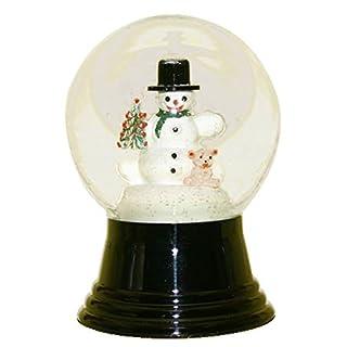 Alexander Taron Importer PR1477 Perzy Decorative Snowglobe with Medium Snowman & Bear, 5 x 3 x 3 by Alexander Taron Importer