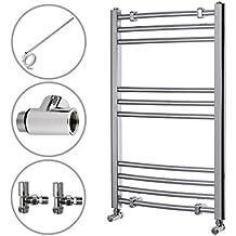 ENKI radiador toallero baño diseño plano cromado doble combustible ...