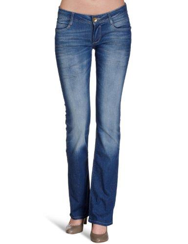 Cross-cut-polo (Cross Jeans Damen Jeans Regular Fit, H 480-301 / Laura, Gr. 28/34, Blau)
