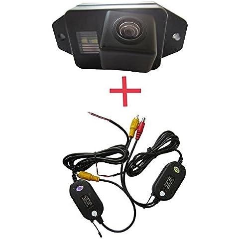 fuway Wireless CCD color car back up inversa de visión trasera Aparcamiento cámara de marcha atrás para Toyota Land Cruiser Prado 2700,