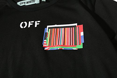 BOMOVO Herren OFF WHITE T 5-Pack Logo Men's T-Shirt Schwarz