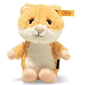Steiff 73816 Soft Cuddly Friends Happy Hamster - Peluche, Color Amarillo y Blanco