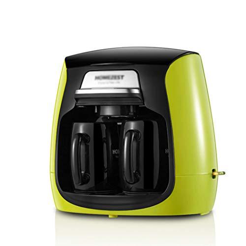 QHYY Vollautomatische Kaffeemaschinentropf-Art doppelte Schalen-Kaffeemaschine-Mini-Teekanne-Maschine