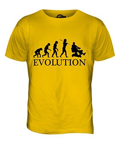 CandyMix Elektromobil Evolution Des Menschen Herren T Shirt Dunkelgelb