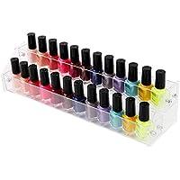 Fiveschoice - Soporte de acrílico de 2 a 7 Niveles para Esmalte de uñas, con Capacidad para hasta 84 esmaltes de uñas, Delete, Seven Layers