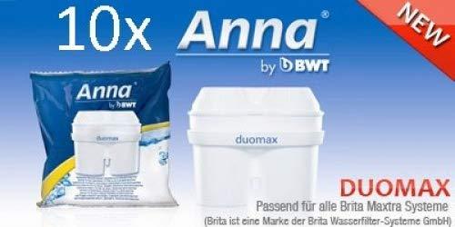 10 Anna Duomax Wasserfilter Kartuschen für Brita Maxtra