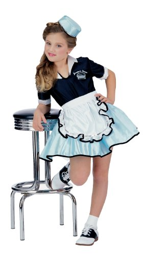 (Rubies 50's Car Hop Diner Waitress Costume M)