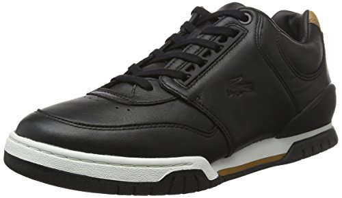 Lacoste Herren Indiana 416 1 Low-Top Schwarz (BLK 024)