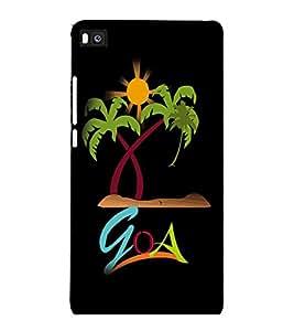 printtech Goa Beach Back Case Cover for Huawei Honor P8