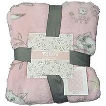 Manta de Forro Polar Rosa súper Suave de 120 cm x 150 cm con Licencia de
