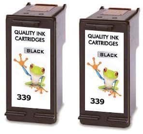 lot de 2 cartouches hp 339 c8767ee noir cartouche d 39 encre pour hp photosmart 2575 2 noirs. Black Bedroom Furniture Sets. Home Design Ideas