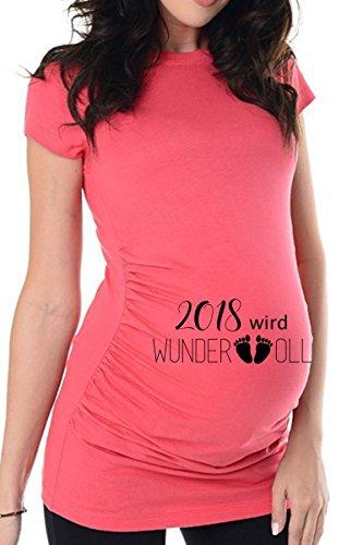 bellytime Rosa wundervoll_2018, 44, Umstands T-Shirt/Schwangerschafts
