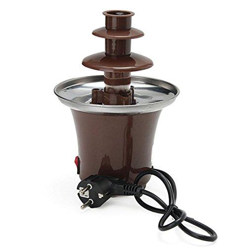 Demino Mini portátil de 3 Niveles Fuente de Chocolate Fondue máquina Fabricante de PC climatizada Partido plástico Fuente casera Enchufe de la UE
