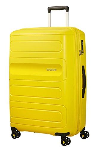 American Tourister Sunside Spinner 77 Bagaglio a Mano Espandibile, 4.5 KG, L (77 cm - 118L), Giallo (Sunshine Yellow)