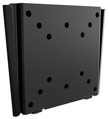 RICOO Monitorhalterung Monitor Wandhalterung Starr F0311 Universal LCD TV TFT Flach Wand Halterung Curved PC Computer Bildschirm Wandhalter für 38-76 cm / 13