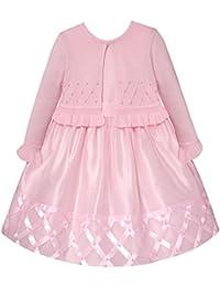 81f20f952bd American Princess Festliches Baby und Mädchen-Kleid Petticoatkleid inkl.  Strick-Bolero in zartem