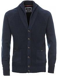 Venti Messieurs Cardigan tricoté 100 % coton slim fit