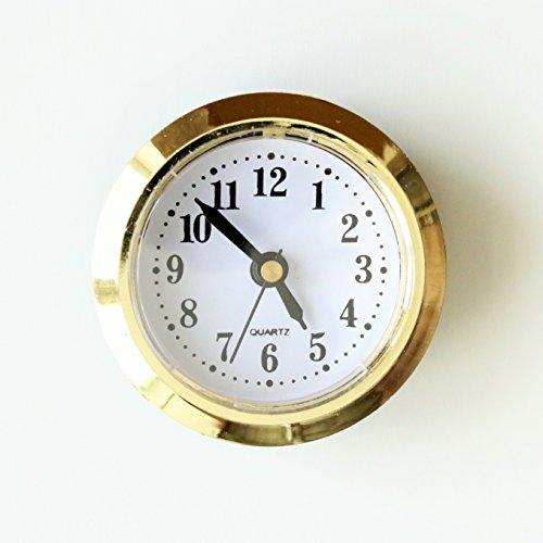 Einbau-Uhr Einsteckuhrwerk Einsteckwerk Einbauuhr Modellbau-Uhr Ø 50 mm gold Nr.12 (gold)
