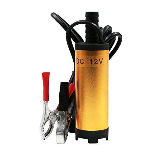 Erfula Pompa Acqua e Olio, 12V 38MM Pompa Sommersa Elettrica Pompa Combustibile Diesel Aspirazione per Olio Gasolio e Acqua per Auto, Caravan,Marino,Barca